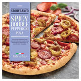Iceland Stonebaked Spicy Double Pepperoni Pizza 370g