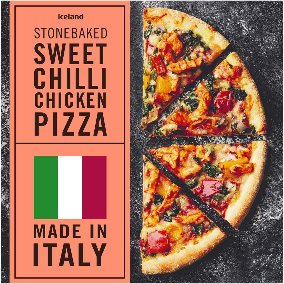 Iceland Stonebaked Sweet Chilli Chicken Pizza 415g Thin