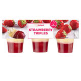 Iceland Strawberry Trifles 3 X 125g