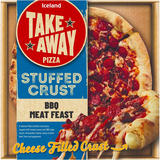 Iceland Stuffed Crust BBQ Meat Feast Pizza 475g