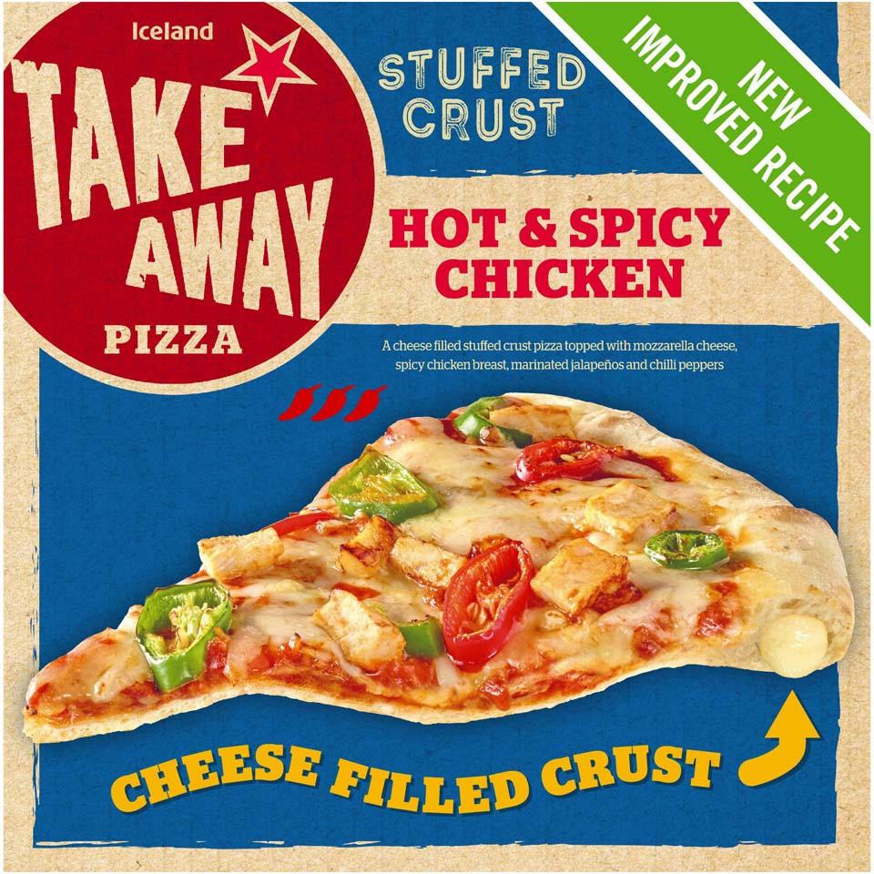 Iceland Stuffed Crust Hot Spicy Chicken Pizza 465g
