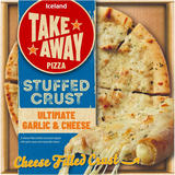 Iceland Stuffed Crust Ultimate Garlic and Cheese Pizza 410g
