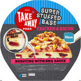 Iceland Super Stuffed Base Chicken & Bacon Pizza 510g