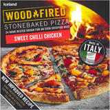 Iceland Sweet Chilli Chicken Stonebaked Pizza 428g