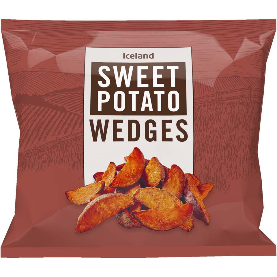 Iceland Sweet Potato Wedges 600g Wedges Iceland Foods