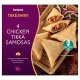 Iceland Takeaway 4 Chicken Tikka Samosas 160g