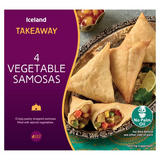 Iceland Takeaway 4 Vegetable Samosas 200g