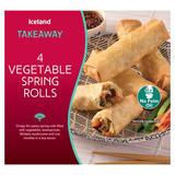 Iceland Takeaway 4 Vegetable Spring Rolls 200g