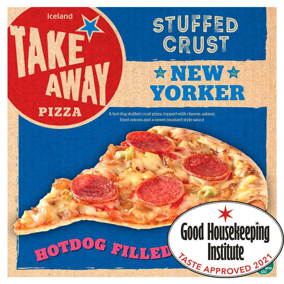 Iceland Takeaway Hot Dog Stuffed Crust New Yorker Pizza 551g