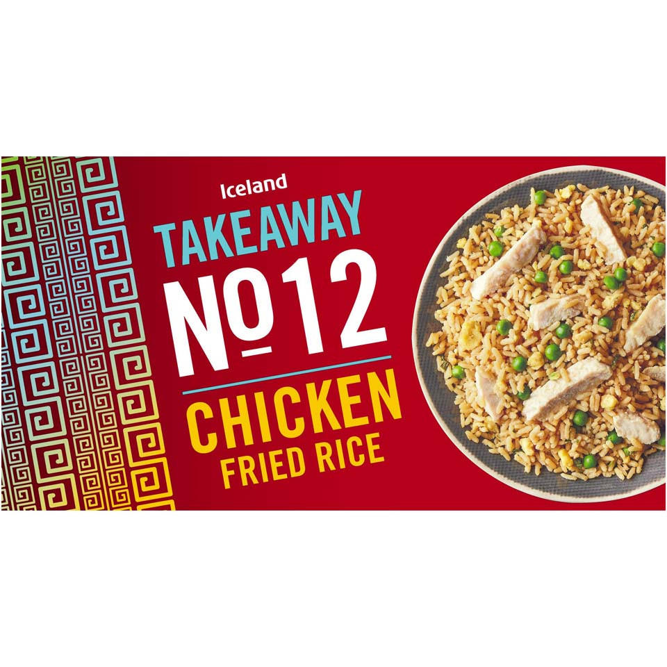 Iceland Takeaway No 12 Chicken Fried Rice 350g Chinese