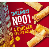 Iceland Takeaway No.1 4 Chicken Spring Rolls 160g