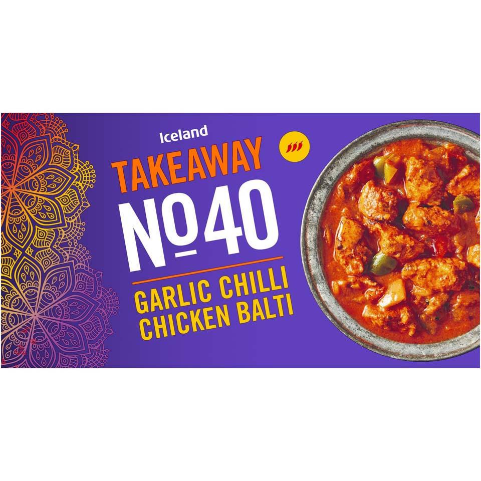 Iceland Takeaway No.40 Garlic Chilli Chicken Balti 375g ...