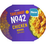 Iceland Takeaway No.42 Chicken Korma with Pilau Rice 400g