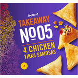 Iceland Takeaway No.5 4 Chicken Tikka Samosas 160g