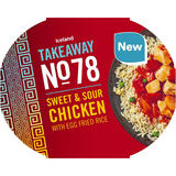 Iceland Takeaway No. 78 Sweet and Sour Chicken with Egg Fried Rice 400g