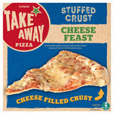 Iceland Takeaway Stuffed Crust Cheese Feast Pizza 453g