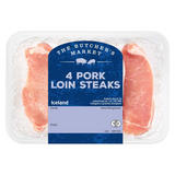 Iceland The Butcher's Market 4 Pork Loin Steaks  500g