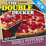 Iceland The Double Decker Double Pepperoni Pizza 699g
