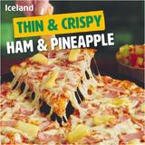 Iceland Thin & Crispy - Ham & Pineapple Pizza 345g