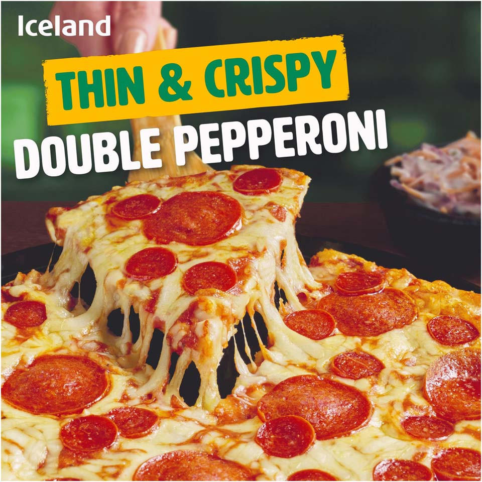 Iceland Thin Crispy Double Pepperoni 320g Thin