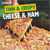 Iceland Thin & Crispy Cheese & Ham Pizza 327g