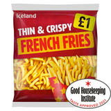 Iceland Thin & Crispy French Fries 1.25kg