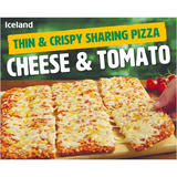 Iceland Thin & Crispy Sharing Pizza - Cheese & Tomato 510g
