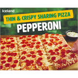 Iceland Thin & Crispy Sharing Pizza - Pepperoni 555g