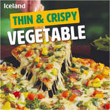 Iceland Thin & Crispy Vegetable Pizza 329g