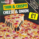 Iceland Thin and Crispy Cheese and Onion Pizza 315g