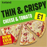 Iceland Thin and Crispy Cheese and Tomato Pizza 302g