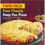 Iceland Twin Pack Four Cheese Deep Pan Pizza 730g
