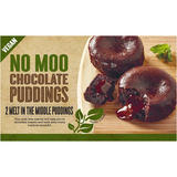 No Moo Chocolate Puddings 2 Melt In the Middle Puddings 160g