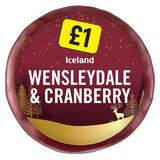 Iceland Wensleydale and Cranberry 100g