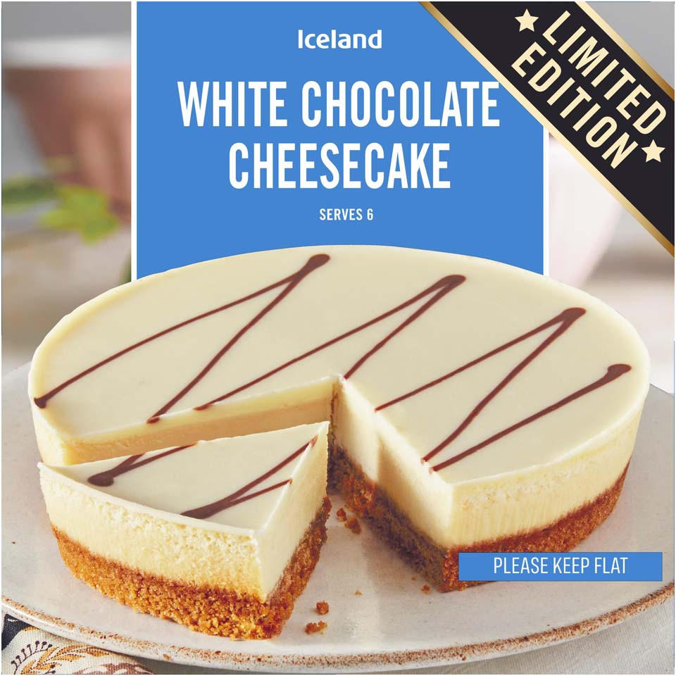 Iceland White Chocolate Cheesecake 450g Desserts Iceland Foods