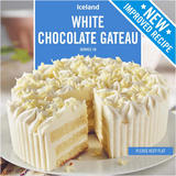 Iceland White Chocolate Gateau 600g