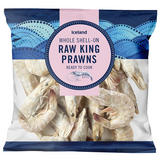 Iceland Whole Shell-On Raw King Prawns 225g