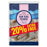 Iceland Whole Shell-On Raw King Prawns 270g