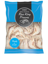 Iceland Whole Shell On Raw King Prawns 225g