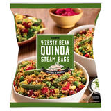 Iceland Zesty Bean Quinoa Steam Bags 500g