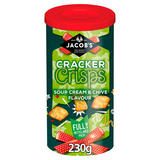 Jacob's Cracker Crisps Sour Cream & Chive Flavour 230g