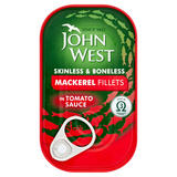 John West Mackerel Fillets in Tomato Sauce 125g