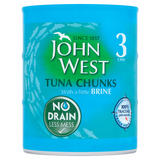 John West Tuna Chunks with a Little Brine 3 x 110g