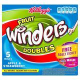 Kellogg's Fruit Winders Doubles Apple & Strawberry Rolls 5 x 17g