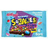 Kellogg's Rice Krispies Squares Chocolate Flavour Birthday Cake Thins Cereal Bars 4 x 20g (80g)