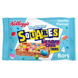 Kellogg's Rice Krispies Squares Vanilla Flavour Birthday Cake Thins Cereal Bars 4 x 19.5g (78g)