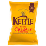 KETTLE® Mature Cheddar & Red Onion 130g