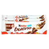 Kinder Bueno Milk Chocolate & Hazelnuts Multipack 3 x 43g (129g)