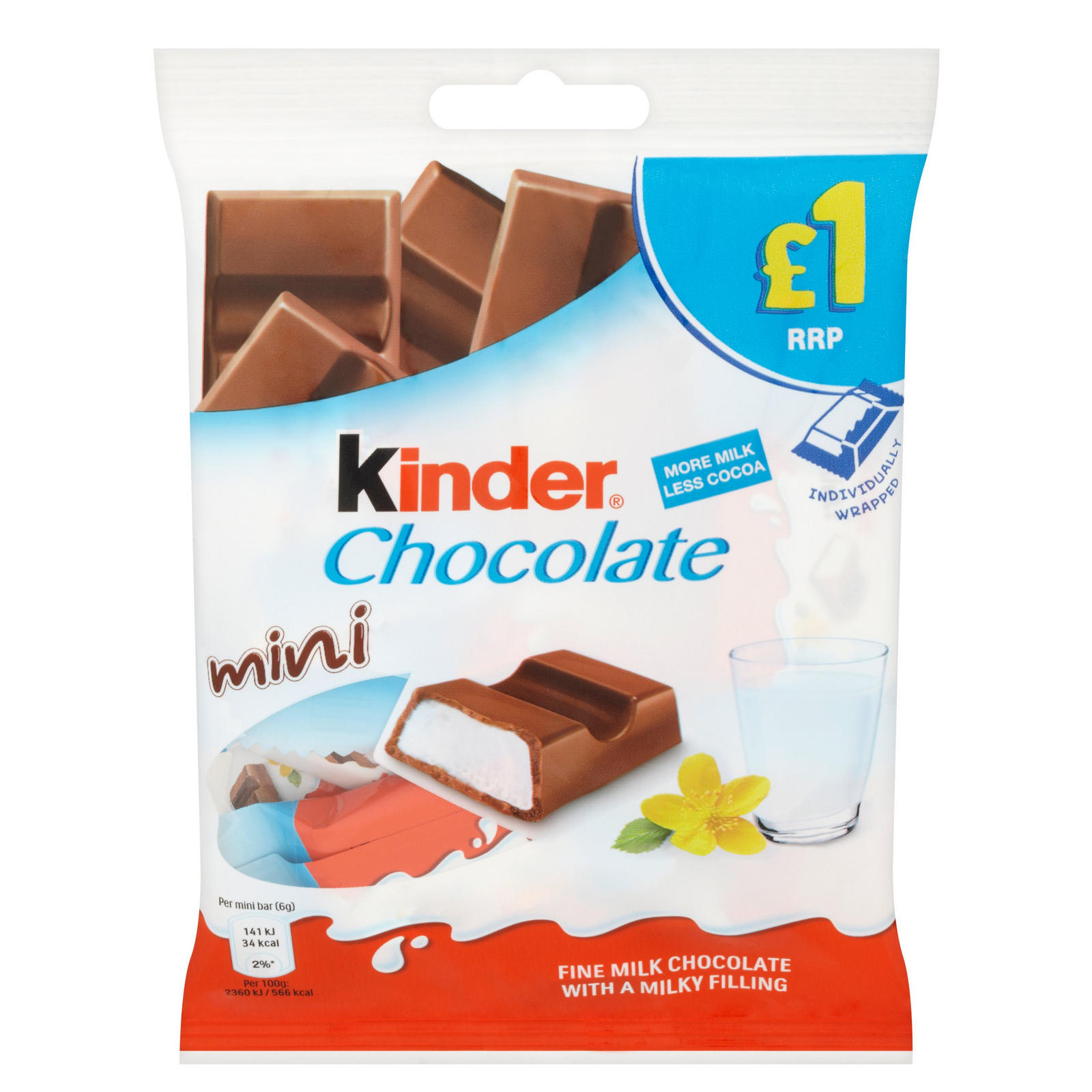 Kinder Chocolate Mini Pouch 72g Sharing Bags Tubs