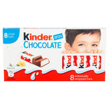 Kinder Small Chocolate Bars Multipack 8 x 12.5g (100g)
